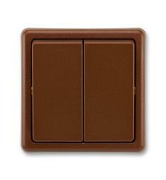 vypínač č.5 ABB Klasik, hnědá světlá/tmavá/skořicová přepínač sériový/lustrový, řazení 5, AKČNÍ CENA