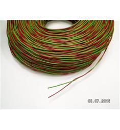 Zvonkový drát 2x1, zelená, červená- cena za 1m