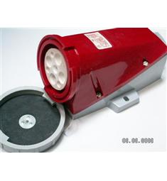 zásuvka nástěnná CZG6343 63A SEZ červená s uzávěrem IP65