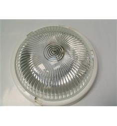 Svítidlo do 60W chodbové  kulaté bílé, čiré sklo E27 objímka