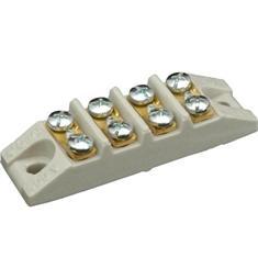 Svorkovnice keramická 4P. do 4mm CuAL ploché šrouby