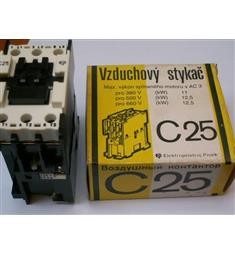 stykač C25; 25A  napětí ovl. cívky 220V v 50Hz vzduchový, Modřany
