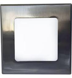LED podhled. svítidlo 6W - hranaté, matný chrom AKČNÍ CENA