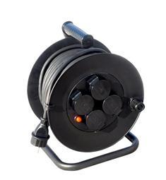 Prodlužovací kabel - buben 25m 4 zásuvky IP44