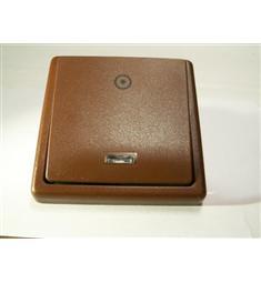 Tlačítko ABB Klasik, řazení 1/OS, se signalizační doutnavkou, hnědá, AKČNÍ CENA