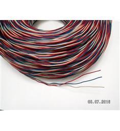 Zvonkový drát 3x0,8 CU, červená, bílá, modrá
