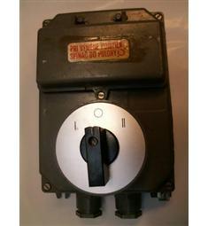 S25V J02 Přepínač směru I 0 II 25A 500V 10kW v AL skříni s pojistkami 1ks skladem