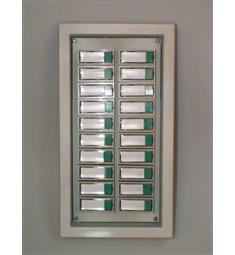 Zvonkový panel TP-20, litinový rám (masiv), 20 tlačítek ,vertikální mont,.snížená cena-doprodej