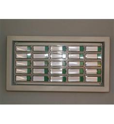 Zvonkový panel TP-25, litinový rám (masiv), 25 tlačítek-snížená cena-doprodej