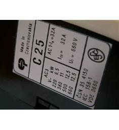 stykač C25; 25A  napětí ovl. cívky 220V v 50Hz vzduchový Modřany