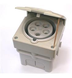 Vest. zás. 380V/16A 5P IZV1653 pod om. IP44 hluboká krabice
