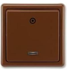 Spínač (ovládač) kolébkový, řazení 1/0S, hnědá, Classic ABB 3553-91289 H3 hnědý v Akční ceně