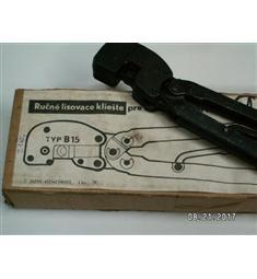 kleště lisovací ruční B15 precizní pro kabelová oka do 10mm, kvalitní paktický výrobek