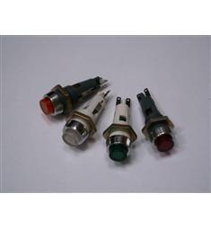 Signální svítidlo T6e/12 se žárovkou 24V 0,05A  uveďte barvu rudá, žlutá, zelená,čirá uveďte v pozn barvu