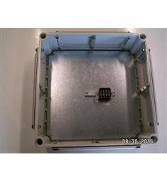 Elektromontáž skříň IP54 se svorkov. masivní plast 360x360x140mm, hloubka usazení 120mm