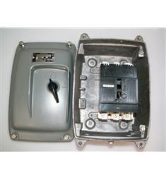 3,6A J7K50A 3P vzduch jistič -motor. spoušť+zkratová ochr. v AL skříni   vhodné pro míchačky a pod, akční cena