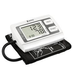 König - stolní měřič krevního tlaku a pulzu, s pamětí, podsvětlený displej, pažný
