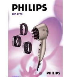 Vysoušeč vlasů Philips Hydraprotect Coiiffure HP4770, automatické čidlo nastavení teploty