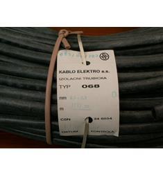 silik.buž. 8x0,8 černá typ 068 cena za m