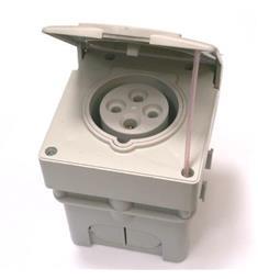 Vest. zás. 380V/16A 4P IZV1643 pod om. IP44 hluboká krabice